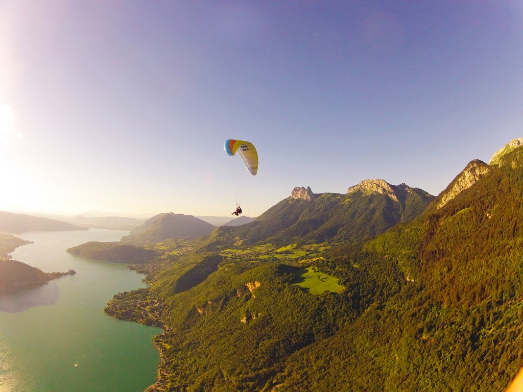 Paragliding at the French Alps.