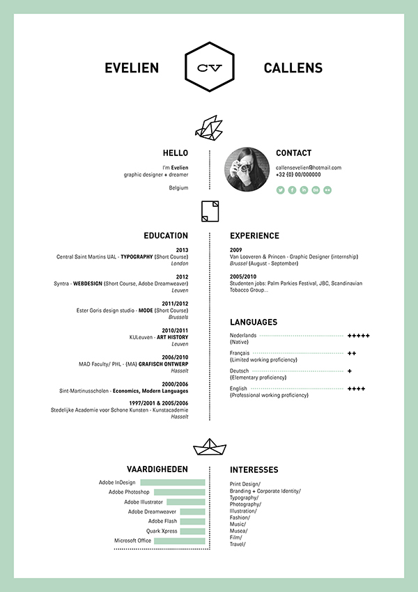 16 creative resume ideas from graphic designers all over the world