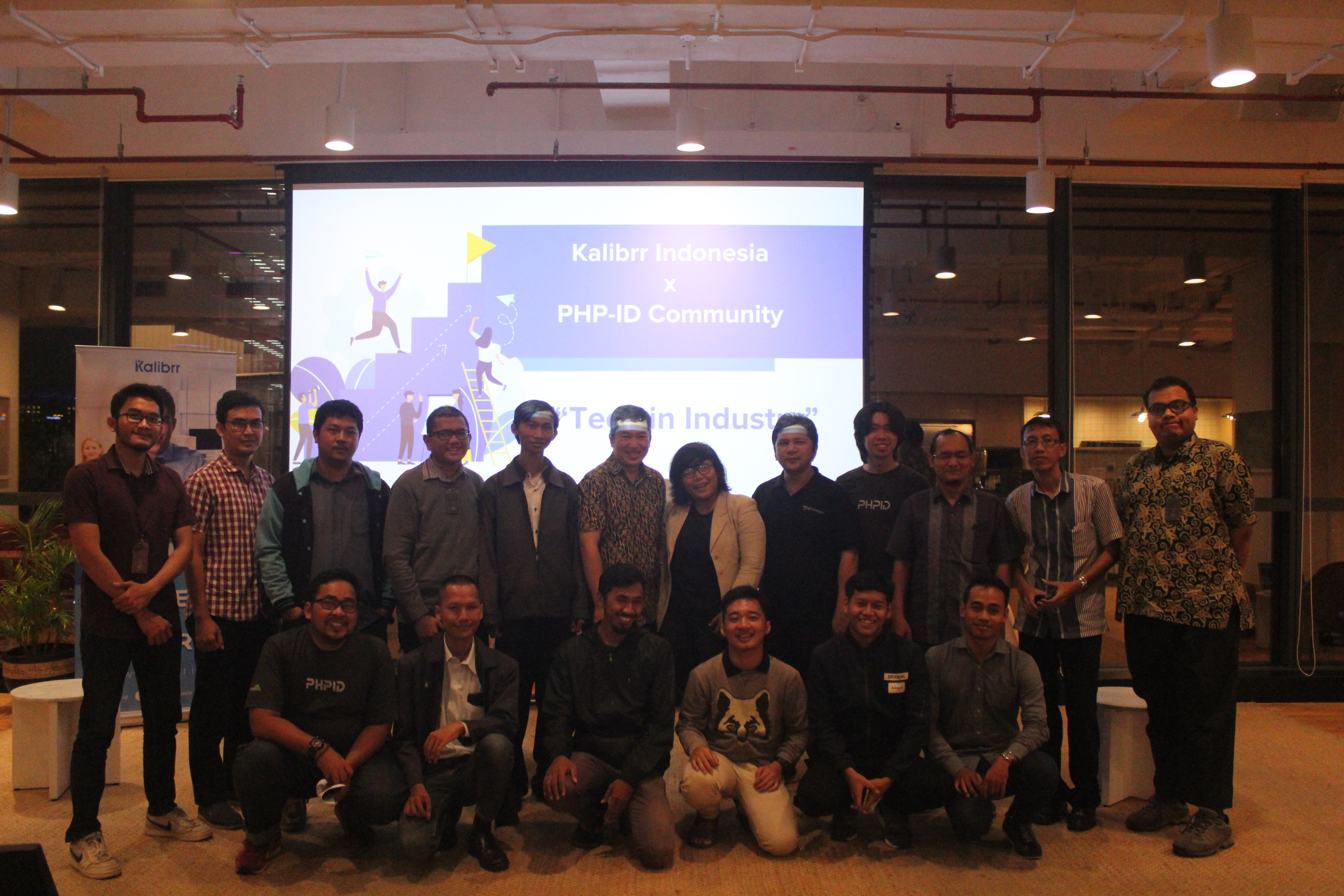Partisipan dan Pembicara Kalibrr x PHP Indonesia: Tech in Industries